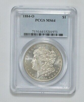 MS64 1884-O Morgan Silver Dollar - Graded PCGS  New Orleans MS-64