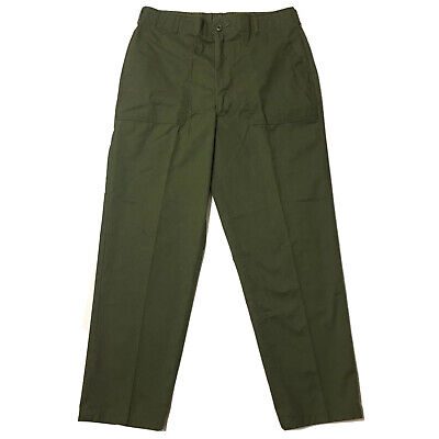 US ARMY OG-507 UTILITY DuRable Press Green TROUSERS PANTS SIZE 38 X 31 1980's
