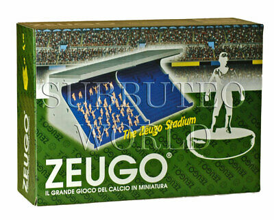New Boxed Zeugo Stadium Grandstand & 50 Unpainted Spectators. Subbuteo Stadium.