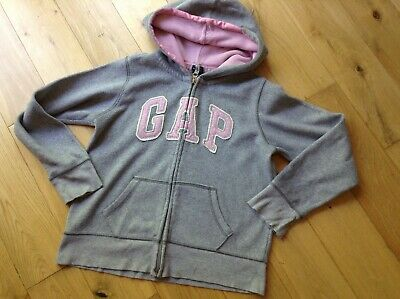 10-11 Years Girl's Designer GAP Grey Fleece Hoodie