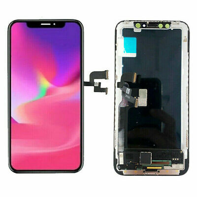 Display Schermo Per Apple Iphone Xs Vetro Lcd + Touch + Frame Screen Nero Gls