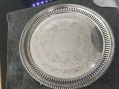 Vintage Silver Plated  Drinks Tray/ Platter.