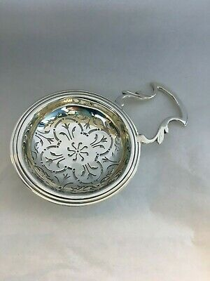 VINTAGE Tiffany Sterling Silver Over the Cup Tea Strainer Made in England