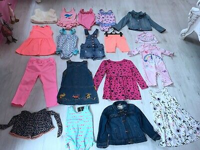 Girls Clothes Bundle Age 2-3 Years 18 Items Next H&M George Tu 2 - 3 Yrs