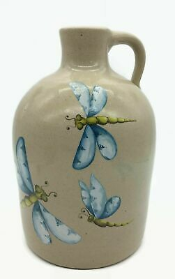 Marshall Texas Pottery Stoneware Dragonfly Insect Gallon Jug Home Decoration