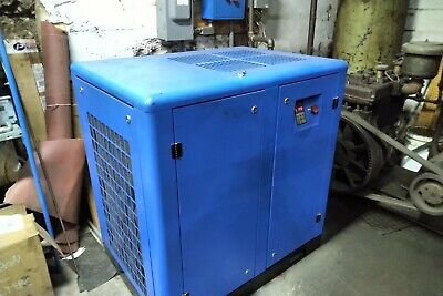 Used 10 HP US AIR COMPRESSOR ROTARY SCREW VFD. 6K hours on it 230 single phase