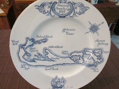 Wedgewood-Map Of Bermuda-Made In England For A.s. Cooper & Sons Bermuda