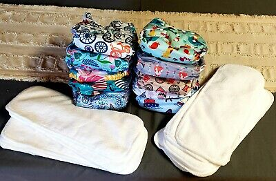 All in one size adjustable snap cloth diaper with adorable prints