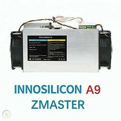 INNOSILICON A9 ZMaster, 50Ksol/s 650W ASIC Miner with out PSU