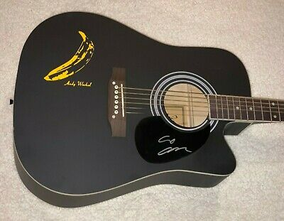 Lou Reed Signed Andy Warhol The Velvet Underground Autographed Guitar W/Proof X3