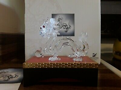 Swarovski Crystal SCS 1997 Annual Edition Dragon Figurine w/stand, COA, Box
