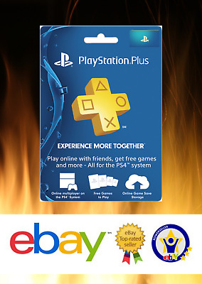 Sony PlayStation Plus 1 Year Membership Subscription Card - NEW! FASTEST