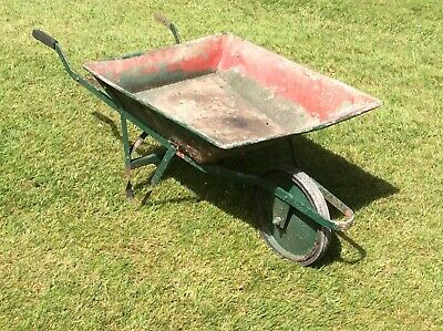 Vintage Metal Wheelbarrow Garden Planter