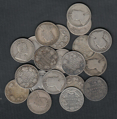 (1902-10) Canada Silver 25 Cents - Lot Of 20