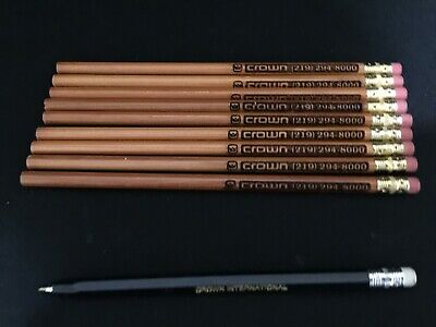 Crown Audio (9) Pencils and (1) Pen Lot All New