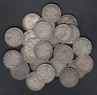 (1911-36) Canada Silver 25 Cents - Lot Of 25