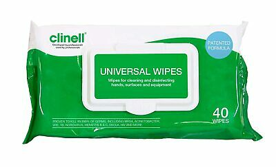 Clinell universal sheet 40 pack ✅NHS_approved✅ - 40 wipes in pack