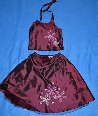 Next Girls Party Summer Outfit Two Piece Set Skirt & Halterneck Top-7-8Years