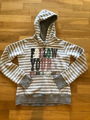 Roxy Hoodie Size XS Tween (12-13Y) Cream Colour.