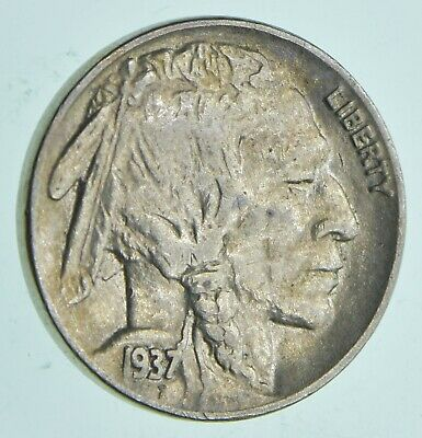 Choice AU/Unc- 1937 - Buffalo Indain Nickel - Dripping with Luster *304