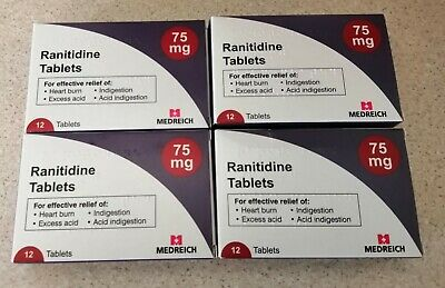 4x Boxes Ranitidine 75mg x 12 Tablets - Not Recalled