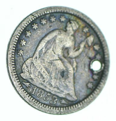1853-O Seated Liberty Half Dime - Holed Coin Collection *907