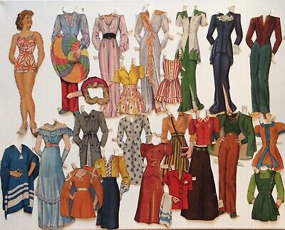 Vintage Paper Doll & Lots Of Clothes
