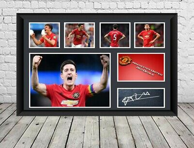 Harry Maguire Signed Photo Poster Man U Autographed Print Football Memorabilia