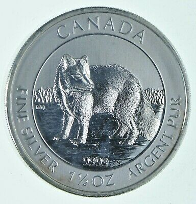 2014 1.5 oz Canada Silver Arctic Fox 8 Coin .9999 Fine Brilliant UNC *753