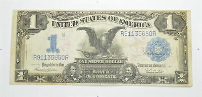 RARE 1899 Black Eagle $1.00 Large Size US Silver Certificate Iconic Note! *405