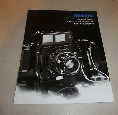 RARE MAMIYA UNIVERSAL PRESS  SYSTEM A-4 ADVERTISING BROCHURE, 6 pages (CH)