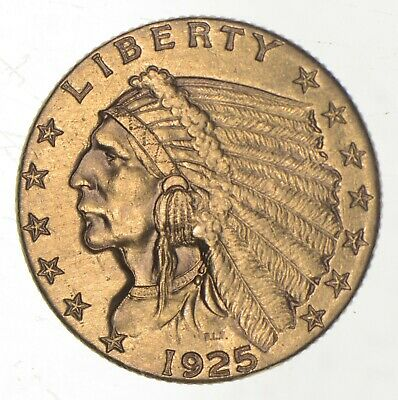 $2.50 United States 90% US Gold Coin - 1925-D Indian - No Reserve *683