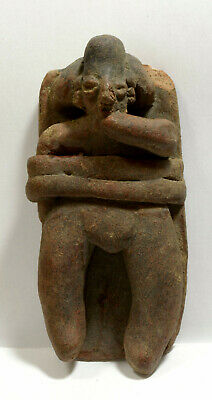 Pre Columbian West Mexico Colima Pottery Figure Lying in a Bed ca. 500 BC