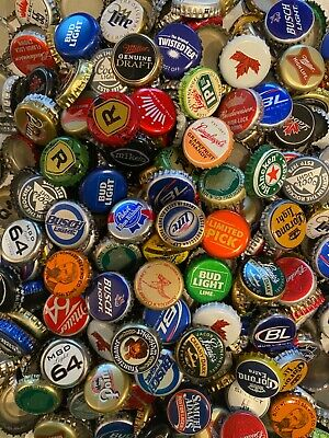 500+ Assorted BEER BOTTLE CAPS (50+ Different) All Twist Offs NO DENTS A