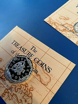 1985 Treasure Coins Of The Caribbean -- $20 EMERALD RING