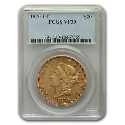 1876-CC $20 Liberty Gold Double Eagle VF-30 PCGS - SKU#169753