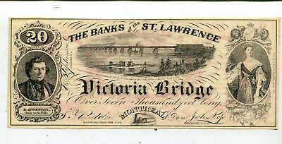 Canada 20 Dollars Au Banks Of The St Lawrence G T Railway Nr 45.00