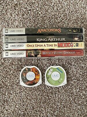 Lot Of 6 PSP UMD Video Movies Show Sony Playstation Portable