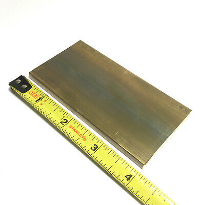 "1/4"" x 2"" C360 BRASS FLAT BAR 4"" long Solid .250"" Plate Mill Stock H02"