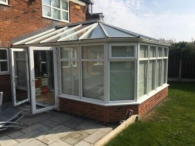 Anglian Conservatory White uPVC Made To Measure Blinds (Hillarys) & Flooring