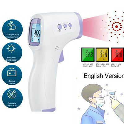LCD Digital IR Infrared Thermometer Non-contact Temperature Ear Forehead RoHs