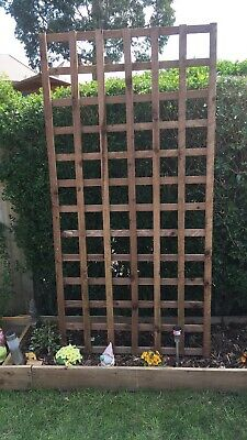 Wooden Trellis Garden Outdoor Wall Fence Panel Square 6x2 Collection Only
