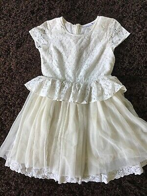 Girls Pretty Ivory Next Dress Age 10 Years