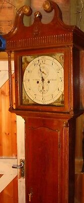 "Antique  Eight Day Oak  "" South Shields ""    Longcase / Grandfather Clock"