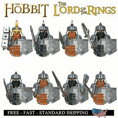 21 Pcs Dwarves Warriors Lord of the Rings Dáin II Ironfoot Minifigures DIY Toys