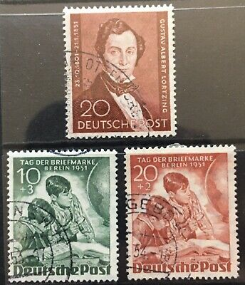 Germany 1951 Berlin issues Used