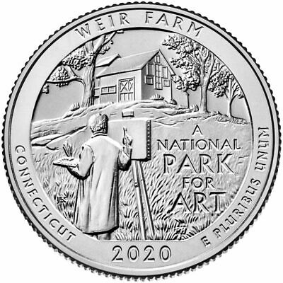 In Stock Connecticut Weir Farm 2020 Commemorative Quarter America The Beautiful