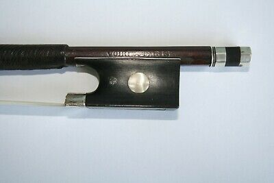 Antique silver mounted Violin Bow stamped Voirin Paris. Good condition