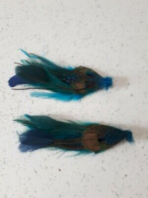 Peacock Feather Fascinator / Hair Clip - Wedding/Party Vintage Hair Jewellery