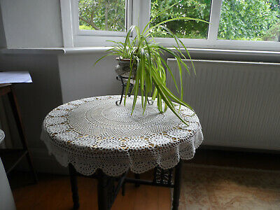 Hand Crochet Small Lace Tablecloth